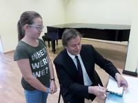 Galeria Jabłoński z wizytą w szkole